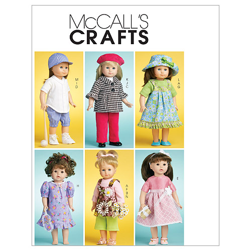 McCall\u0027s Crafts Doll Clothes-M6137