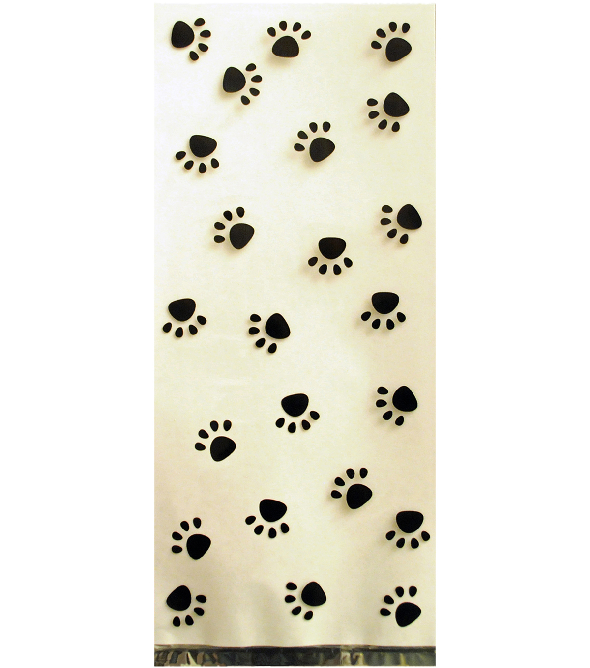 K9 Cakery 100 Pack Treat Bags-Black Dog Paw Print