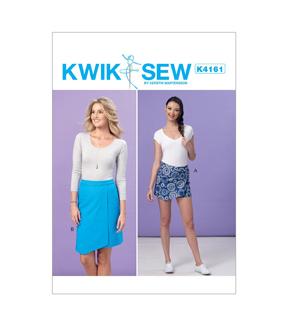 Kwik Sew Pattern K4161 Misses\u0027 Shaped-Overlay Skort & Skirt-Size XS-XL