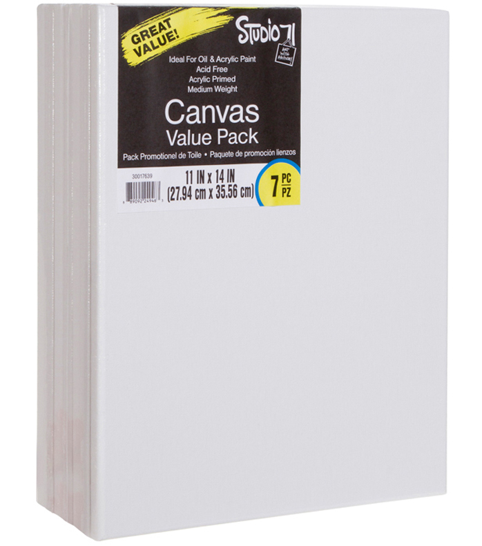 Studio 71 Stretched Canvas Value Pack 7 Pack 11\u0022X14\u0022