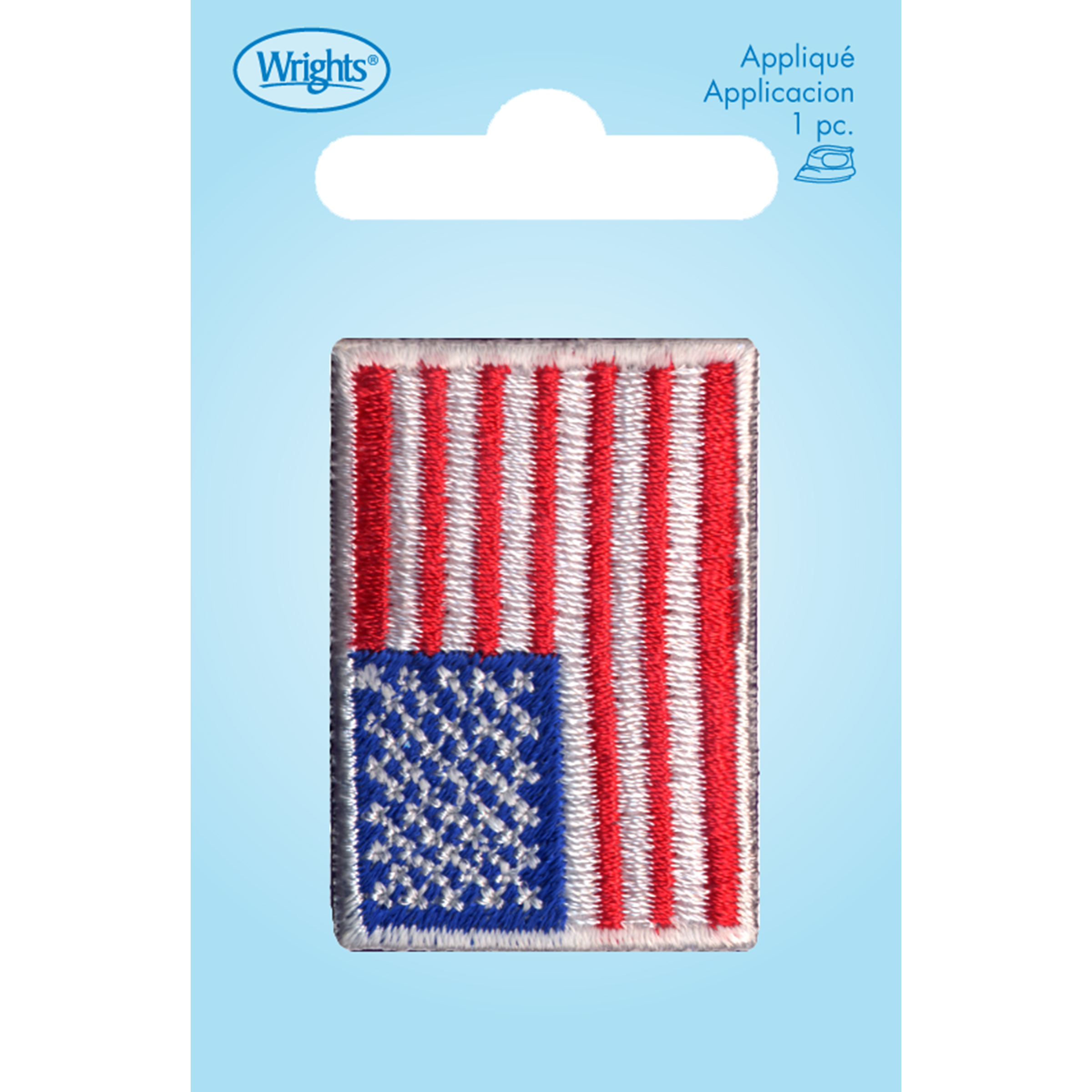 Wrights Iron-On Applique-USA Flag
