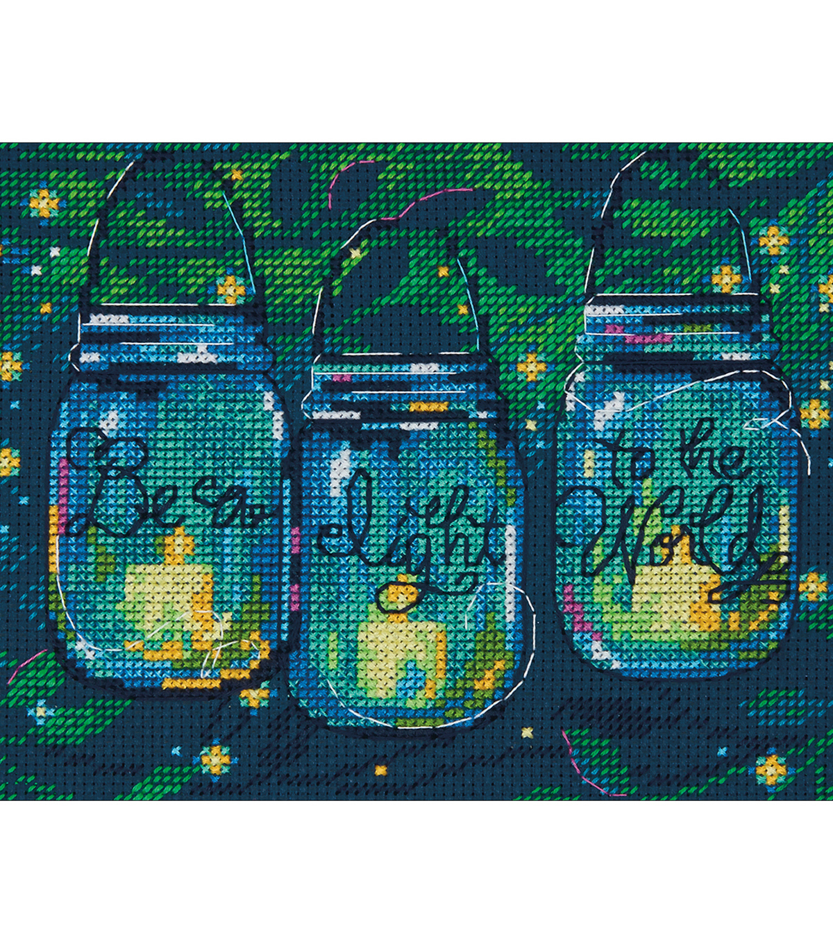 Be A Light Mini Counted Cross Stitch Kit 14 Count