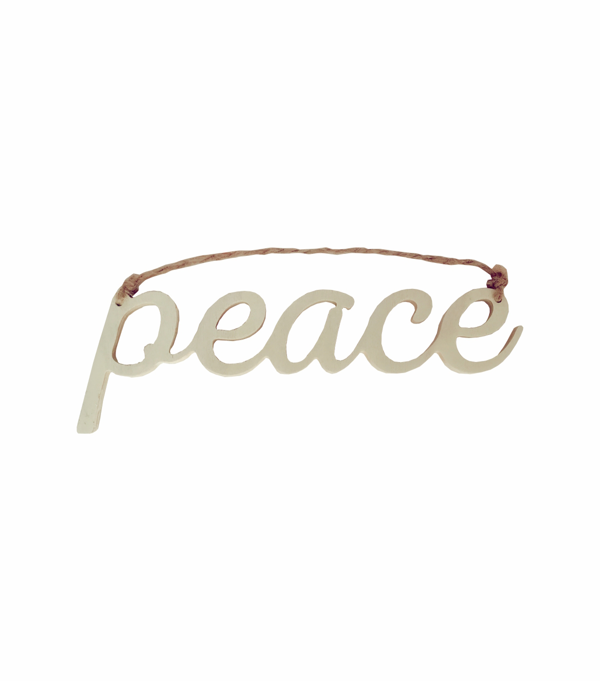 Handmade Holiday Craft Christmas Wooden Peace Word Hanging Decor