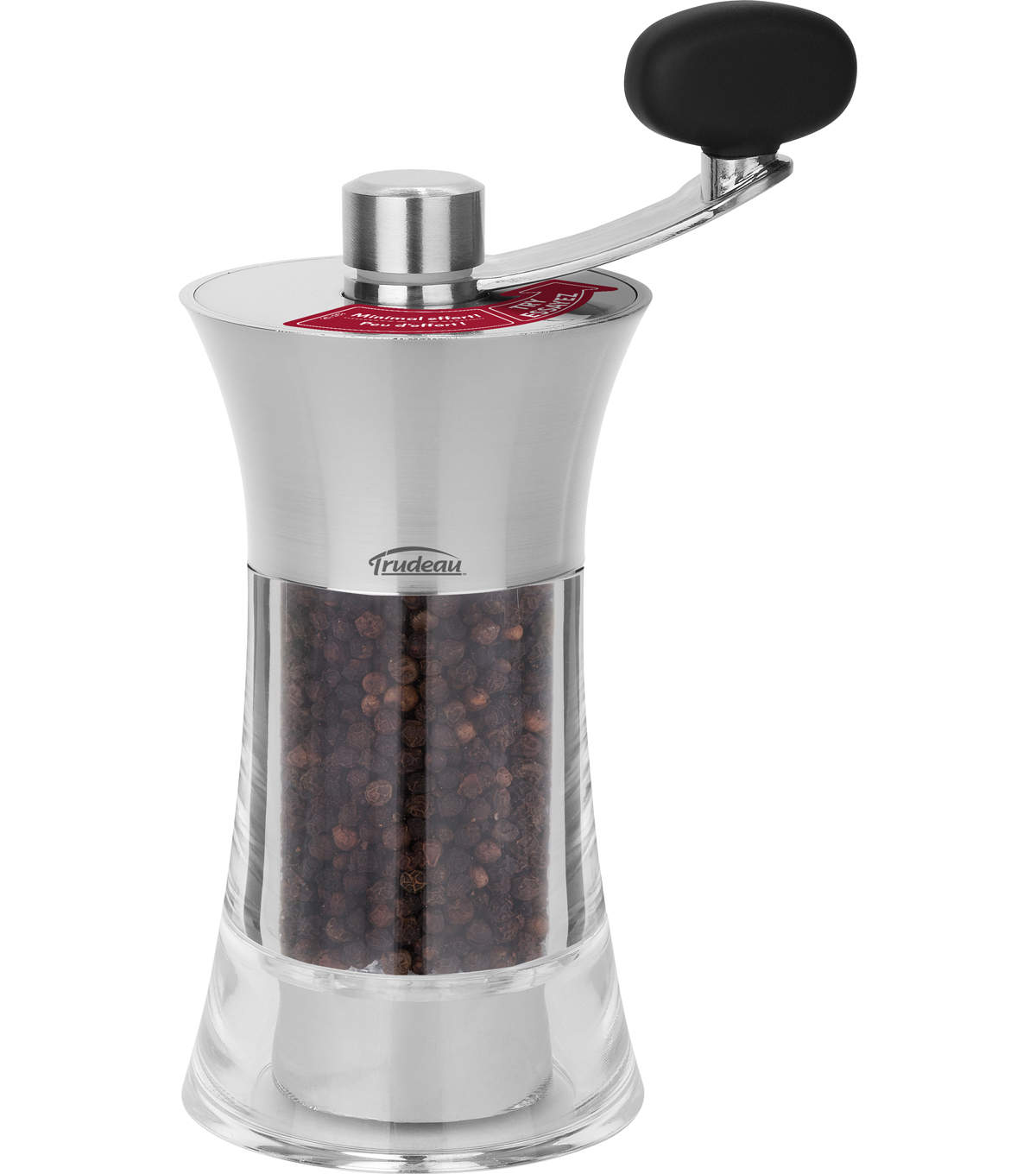Trudeau 7\u0027\u0027 Easy Grind Pepper Mill-Silver