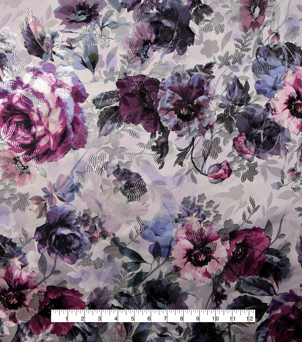 Casa Embellish Gardinia Jacquard Fabric 54\u0027\u0027-Blue Watercolor Floral