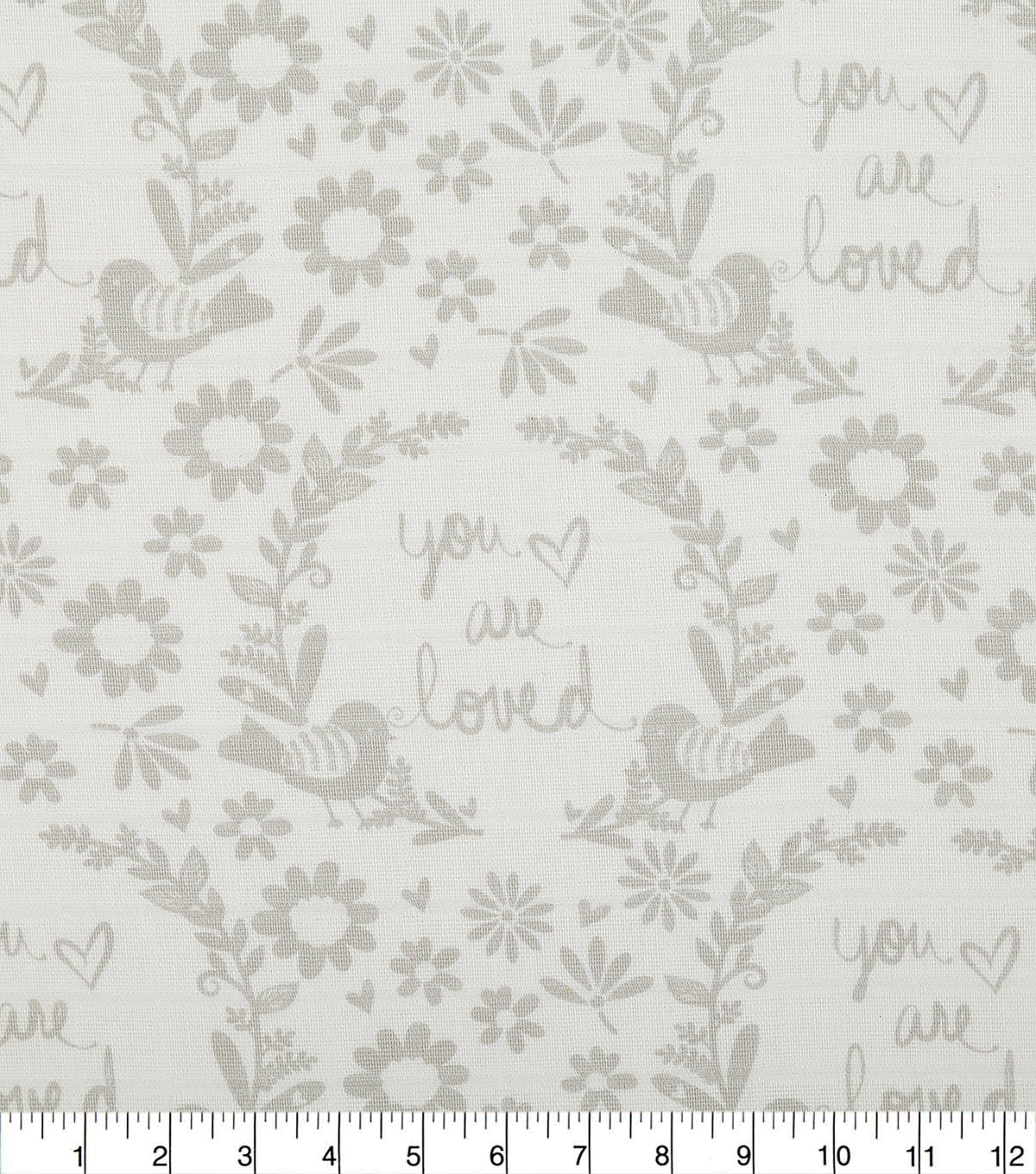 Nursery CottonFarbic -Grey You Are So Loved