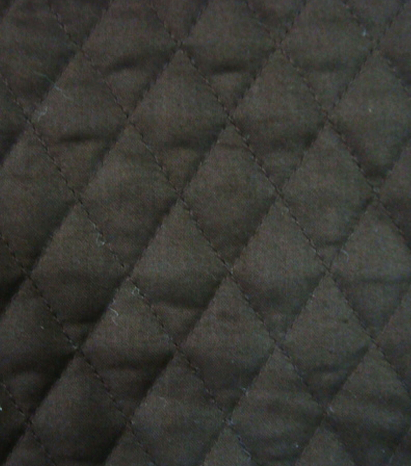 Double Faced Pre-Quilted Cotton Fabric -Diamond Solids, Chocolate Brown