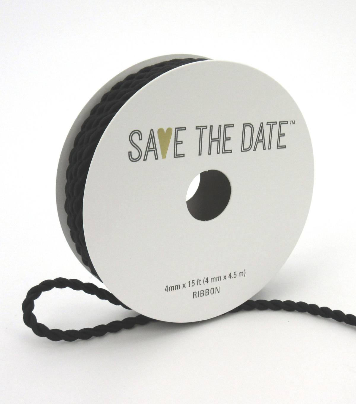 Save the Date 4mm x 15ft Cord-Black
