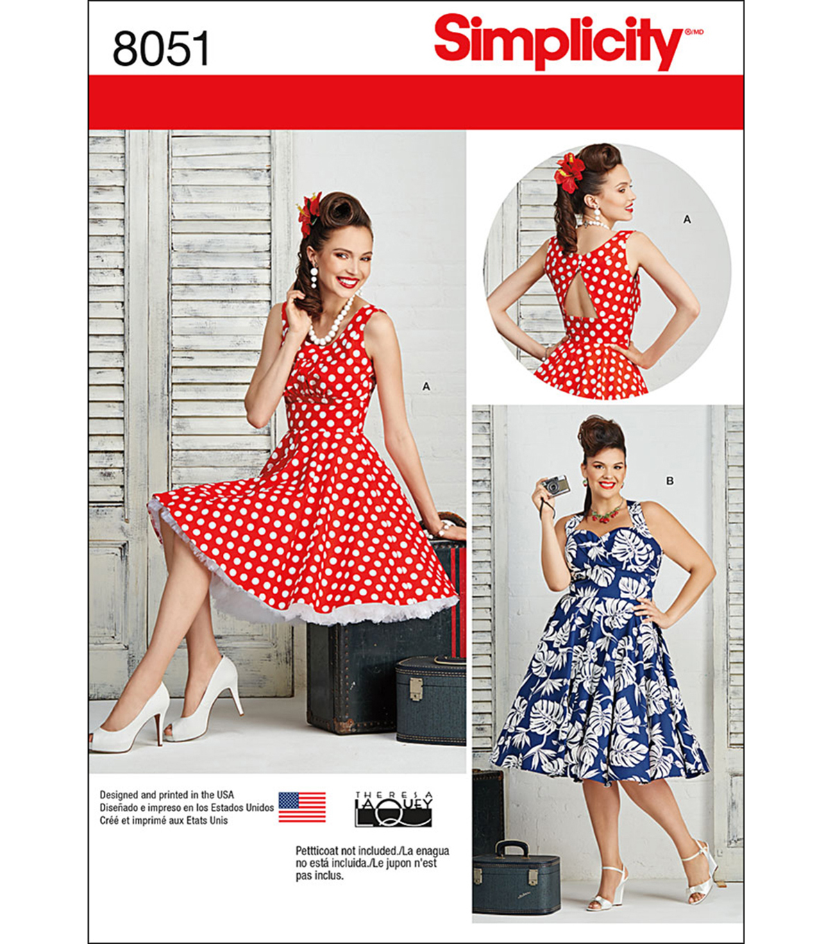 Simplicity Misses And Plus Size Dresses-20W-28W