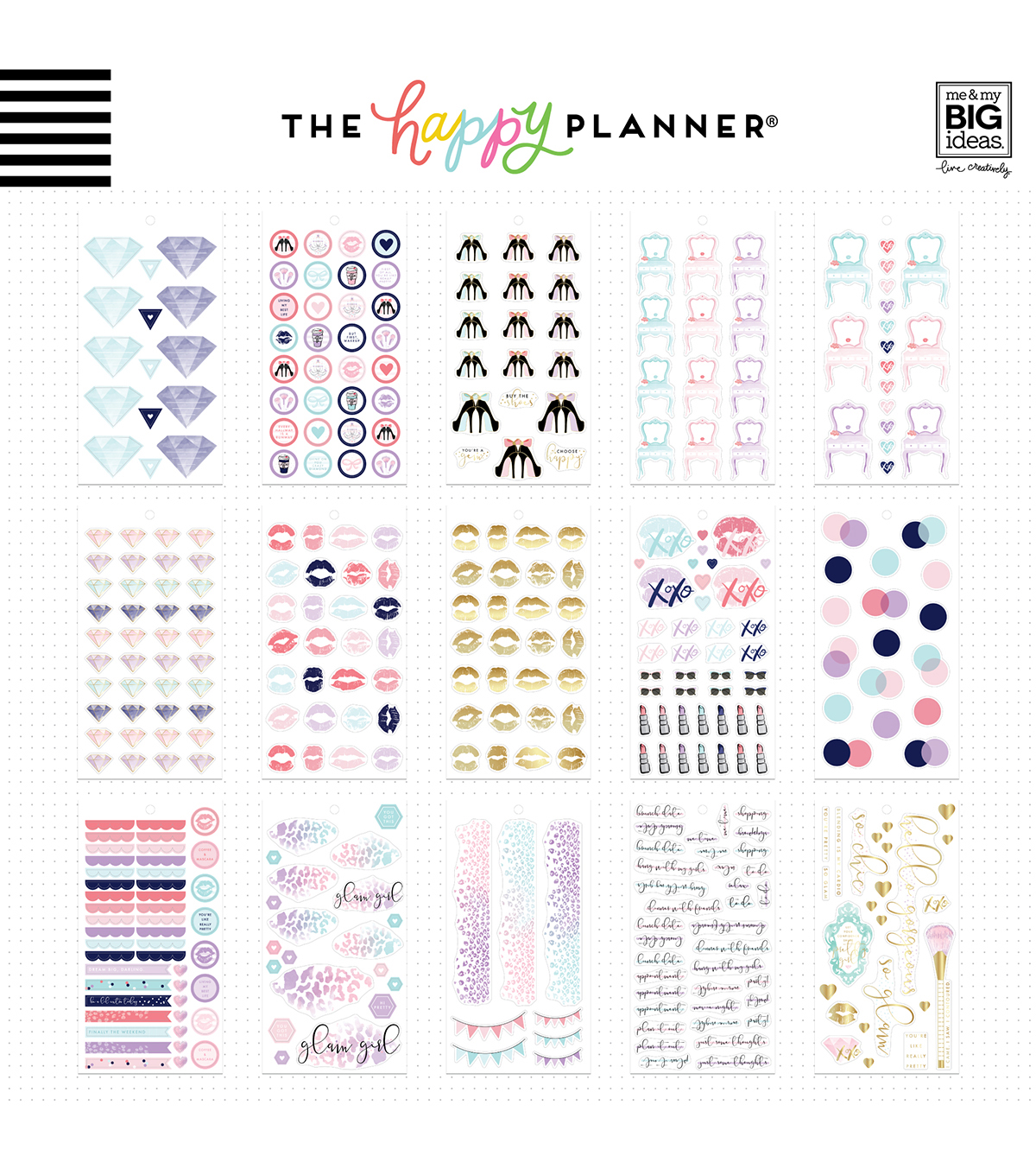 The Happy Planner Girl Sticker Value Pack-Glam Girl