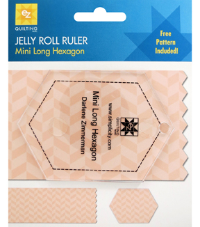Ez Quilting Jelly Roll Rulers- Long Hexagon