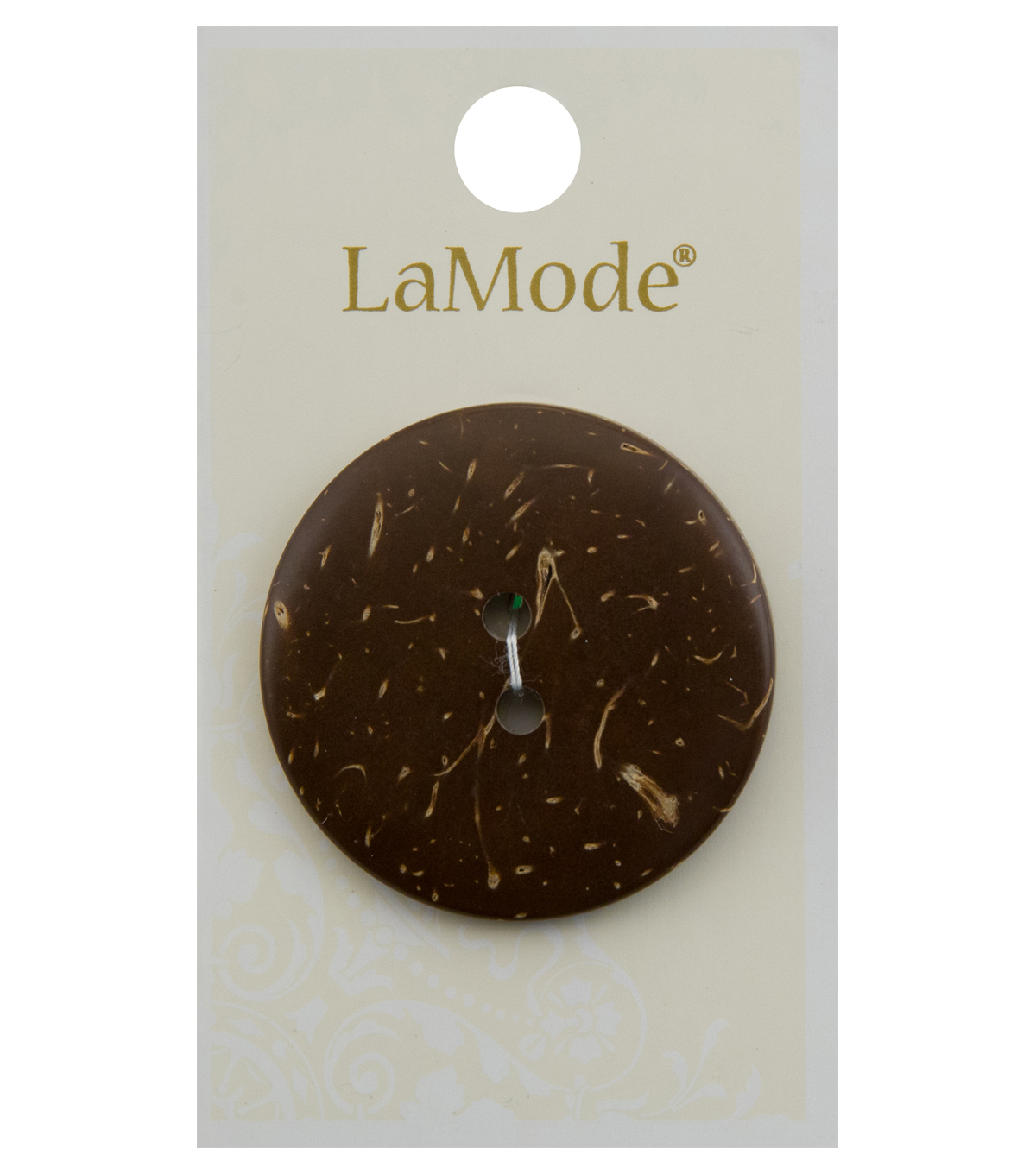 La Mode 1.5\u0027\u0027 Round Button-Multi Brown