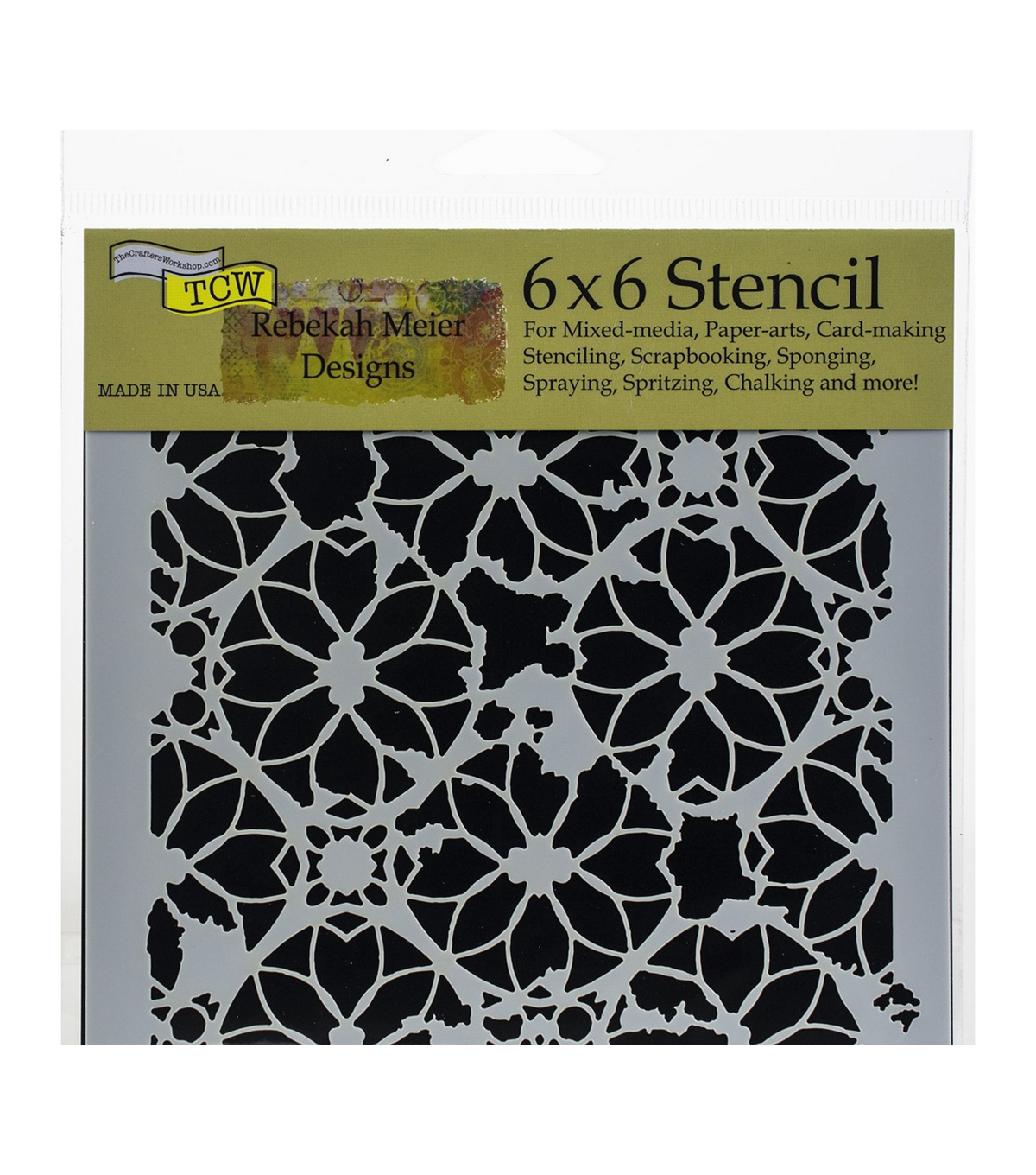 The Crafter\u0027s Workshop Rebekah Meier 6\u0027\u0027x6\u0027\u0027 Stencil-Distressed Lace