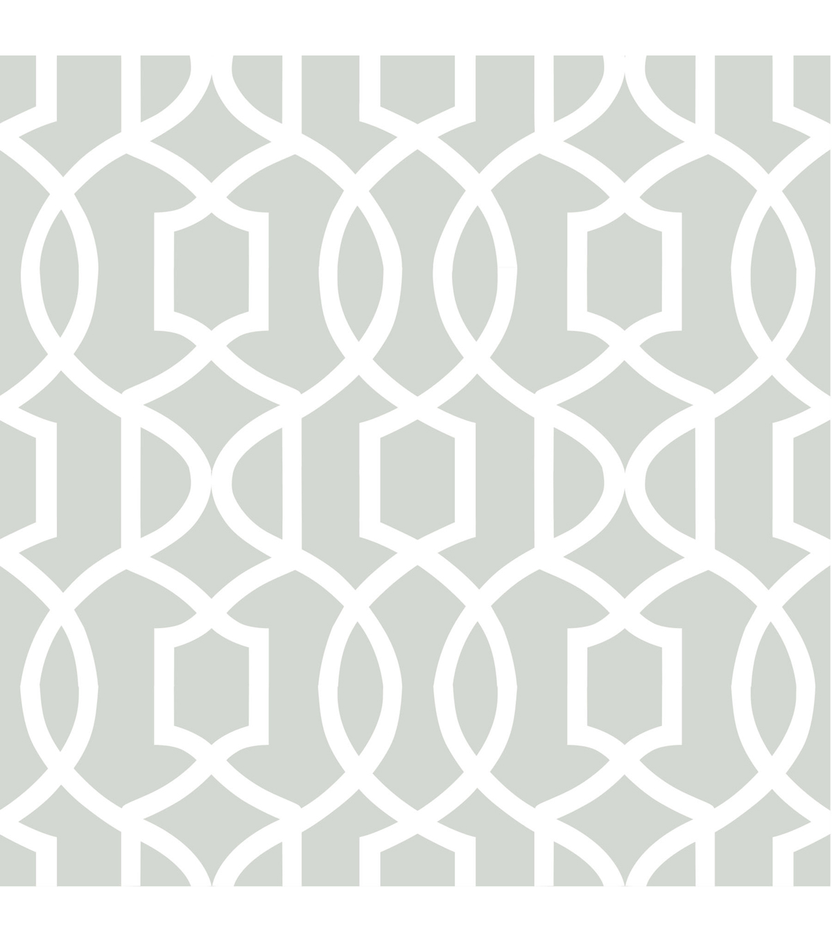 WallPopsNuWallpaper Gray Grand Trellis Peel And Stick Wallpaper