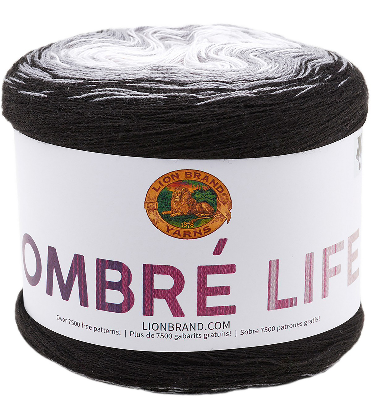 Lion Brand Ombre Life Yarn, Midnight