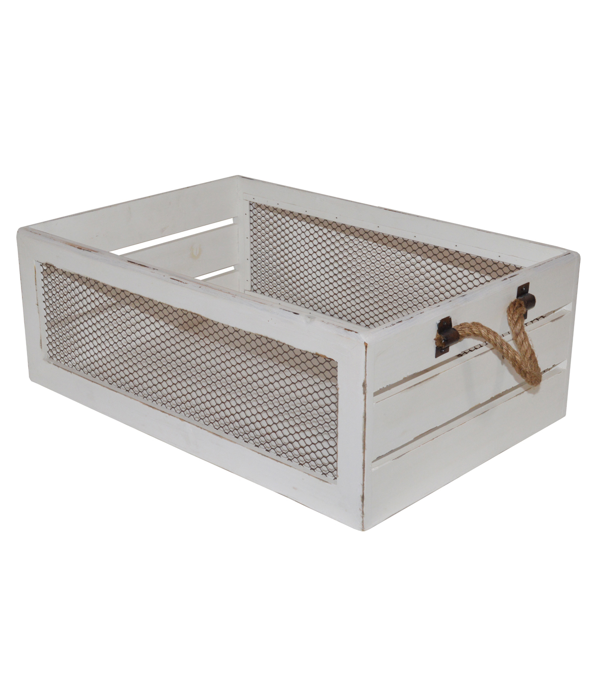 Farm Storage Large Crate with Chicken Wire-White | JOANN