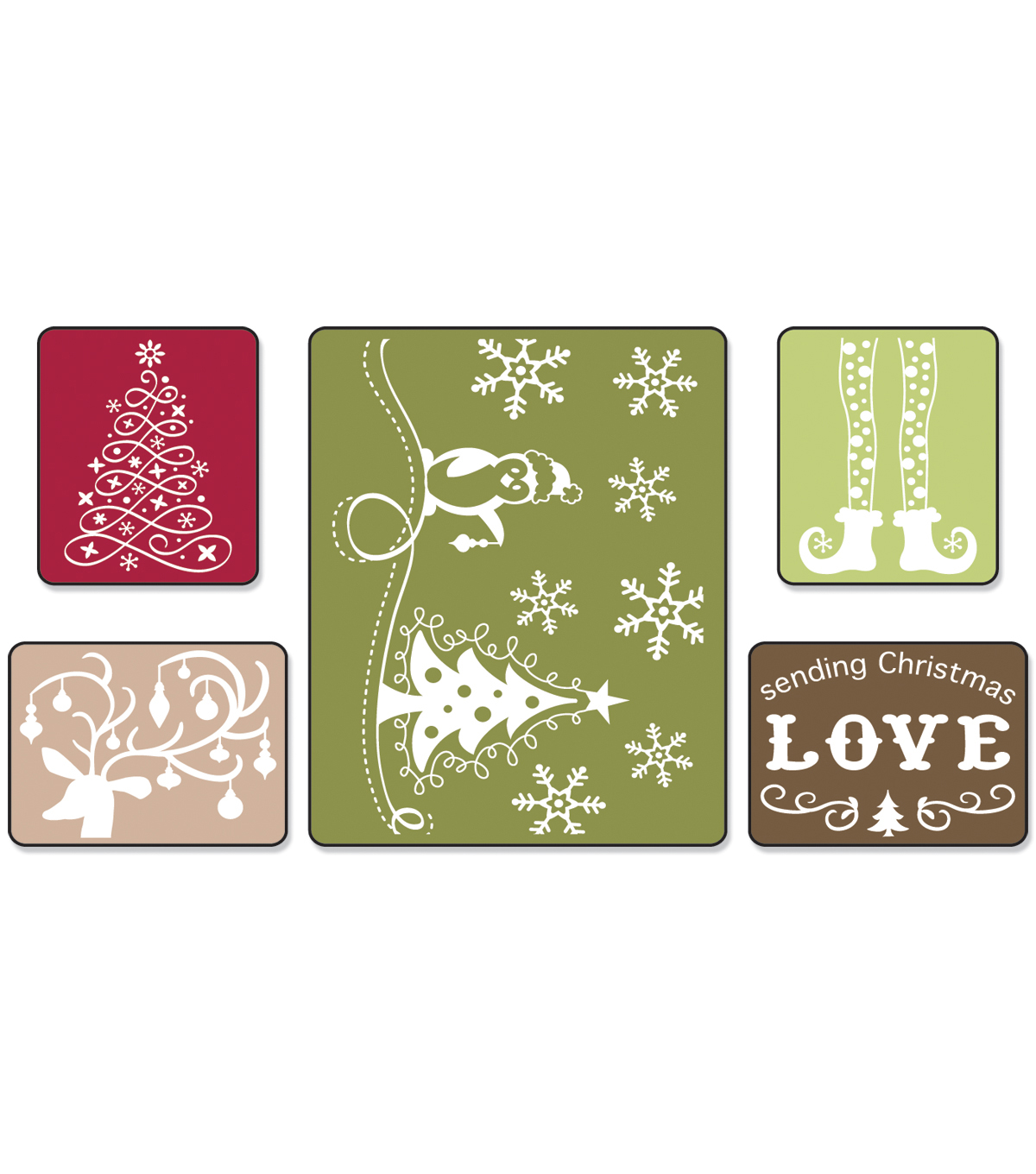 Sizzix Textured Impressions Emboss Folder-Sending Christmas Love