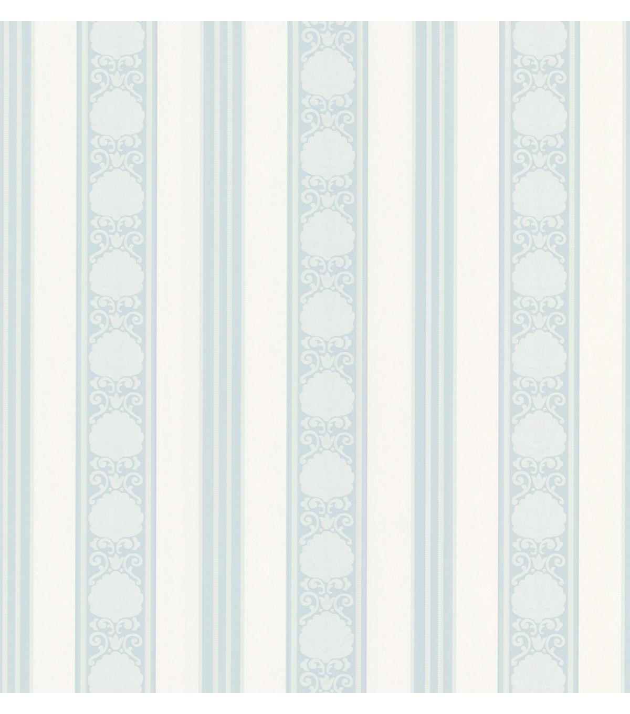Delphine Light Blue Stripe Wallpaper Sample Joann