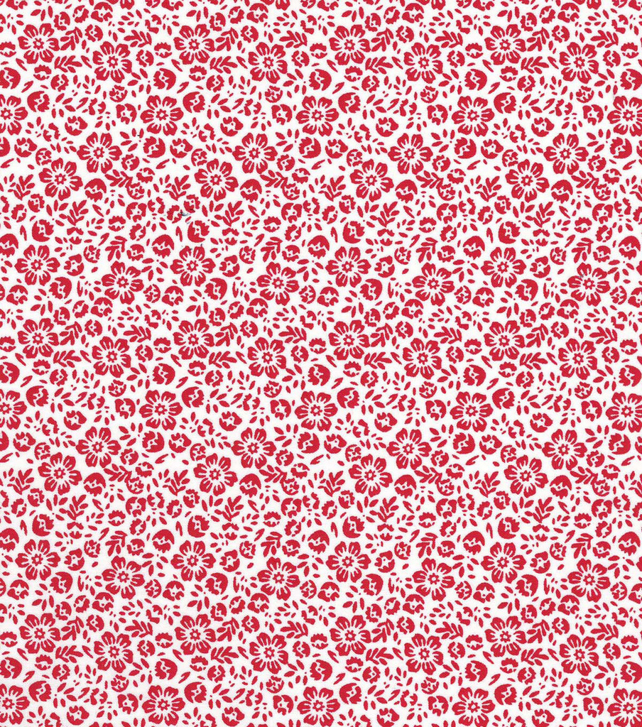 Quilter\u0027s Showcase Cotton Fabric 44\u0022-Red Floral On White