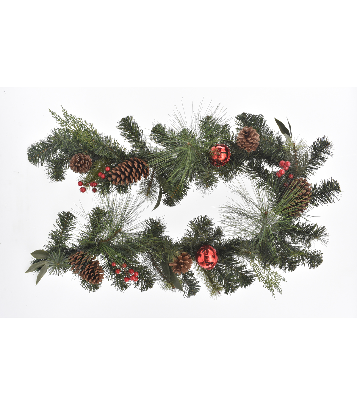 blooming holiday christmas 3 x66 pine pinecone red bell