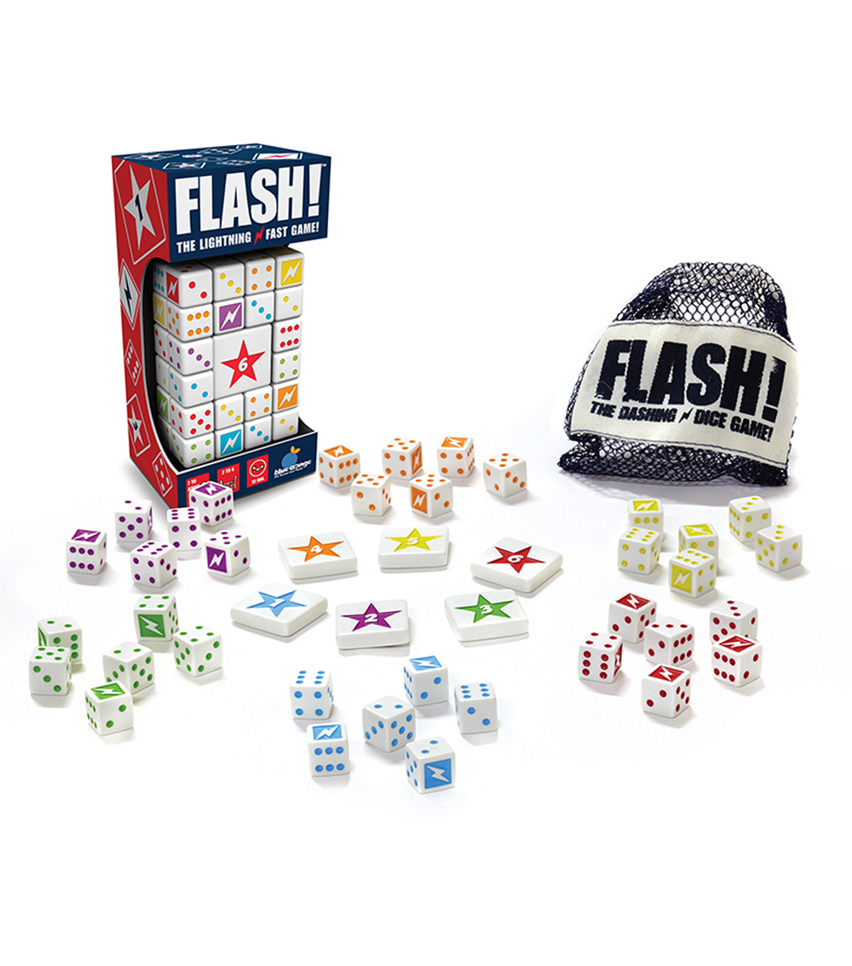 Blue Orange Games Flash! Dice Game, Ages 7 to Adult, 2-6 Players