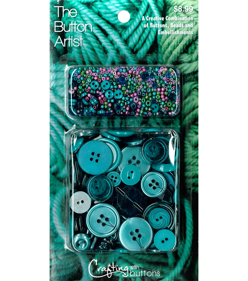 The Button Artist Buttons & Beads Teal
