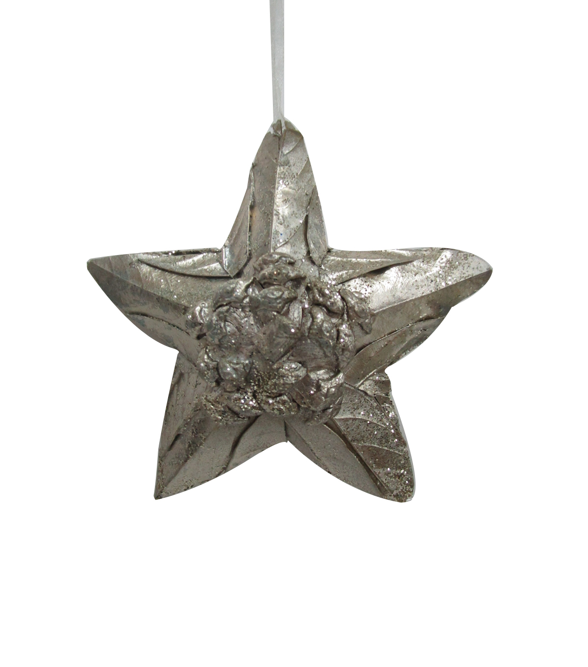 Maker\u0027s Holiday Christmas Glistening Pines Star Ornament