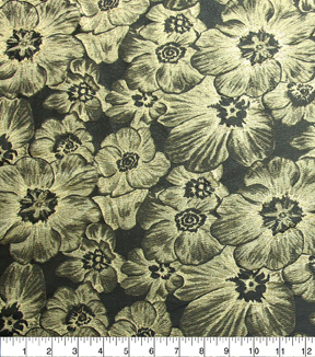 casa embellish spring floral brocade fabric black gold metallic