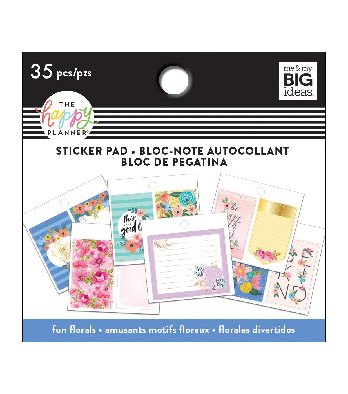 The Happy Planner Tiny Sticker Pads-Fun Florals