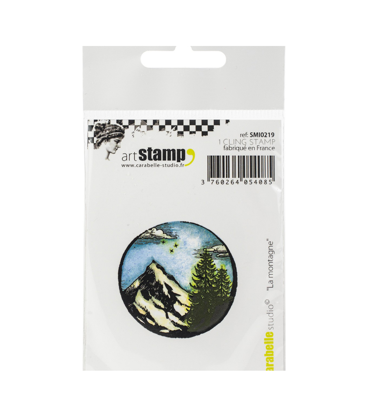 Carabelle Studio Cling Stamp Small-The Mountain