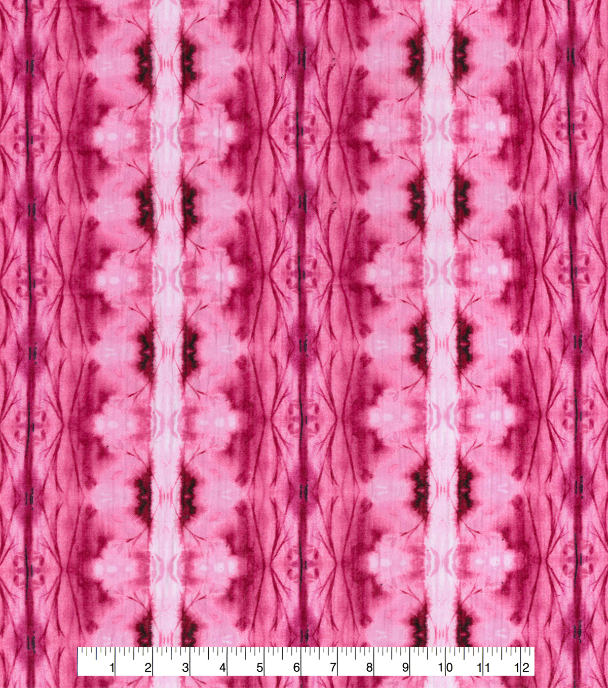 Kathy Davis Cotton Gauze Fabric 54\u0022-Pink Forest Tie Dye