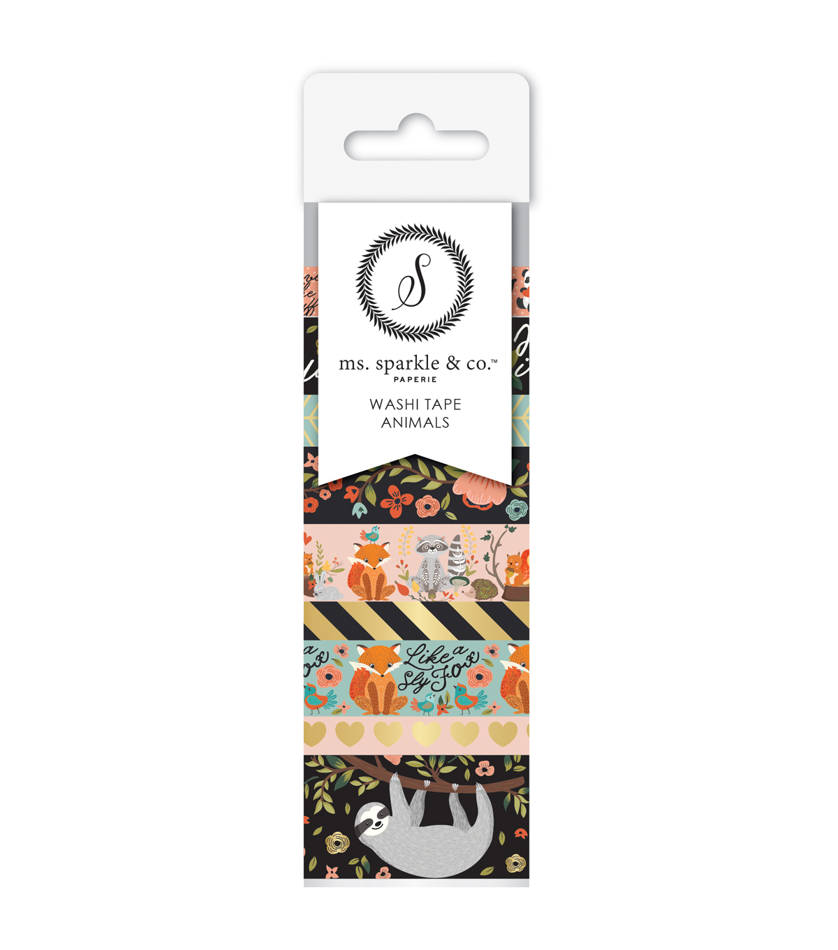 Ms. Sparkle & Co. 9 pk Washi Tapes-Animals