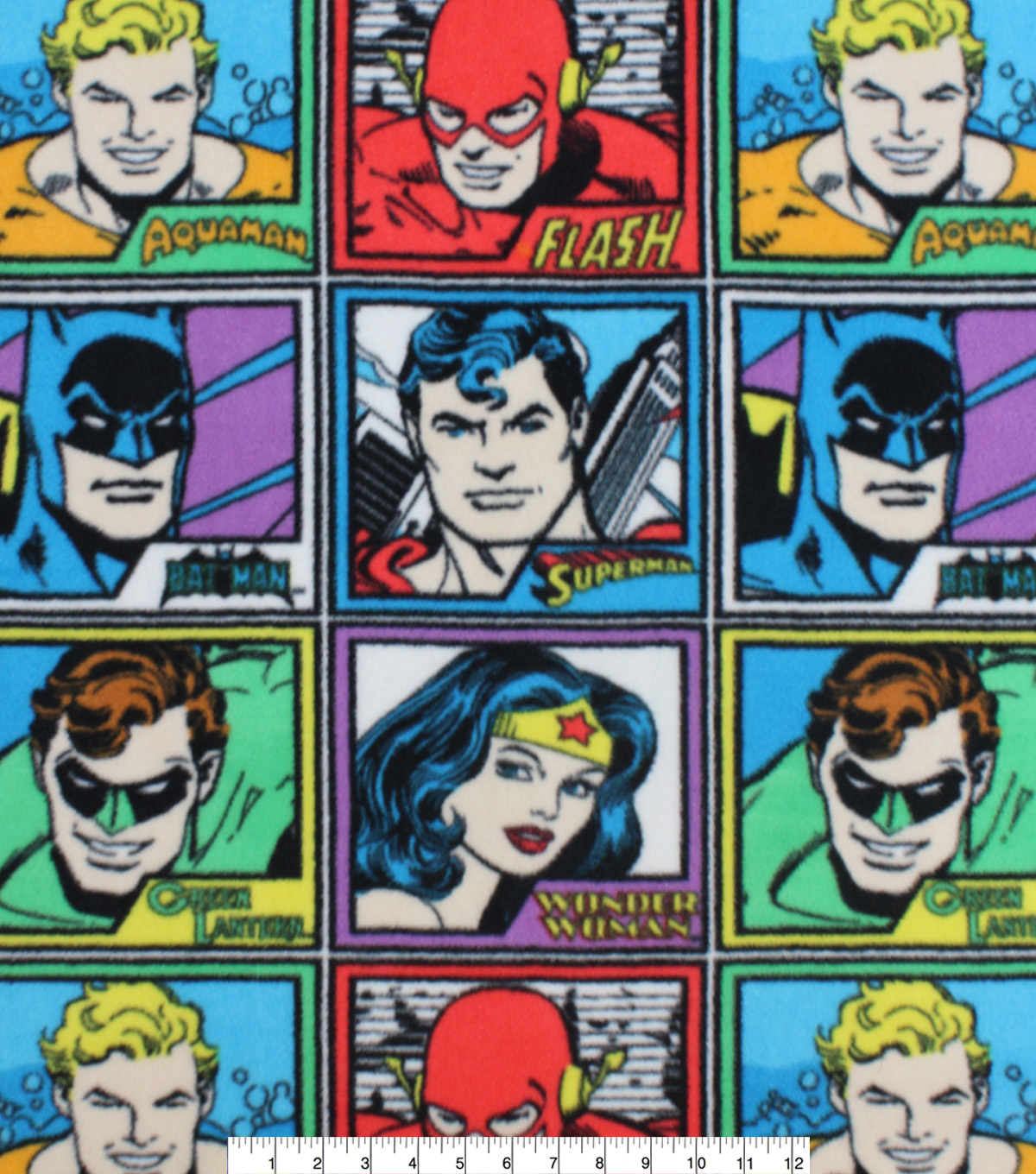 DC Comics Fleece Fabric-Meet the Heros