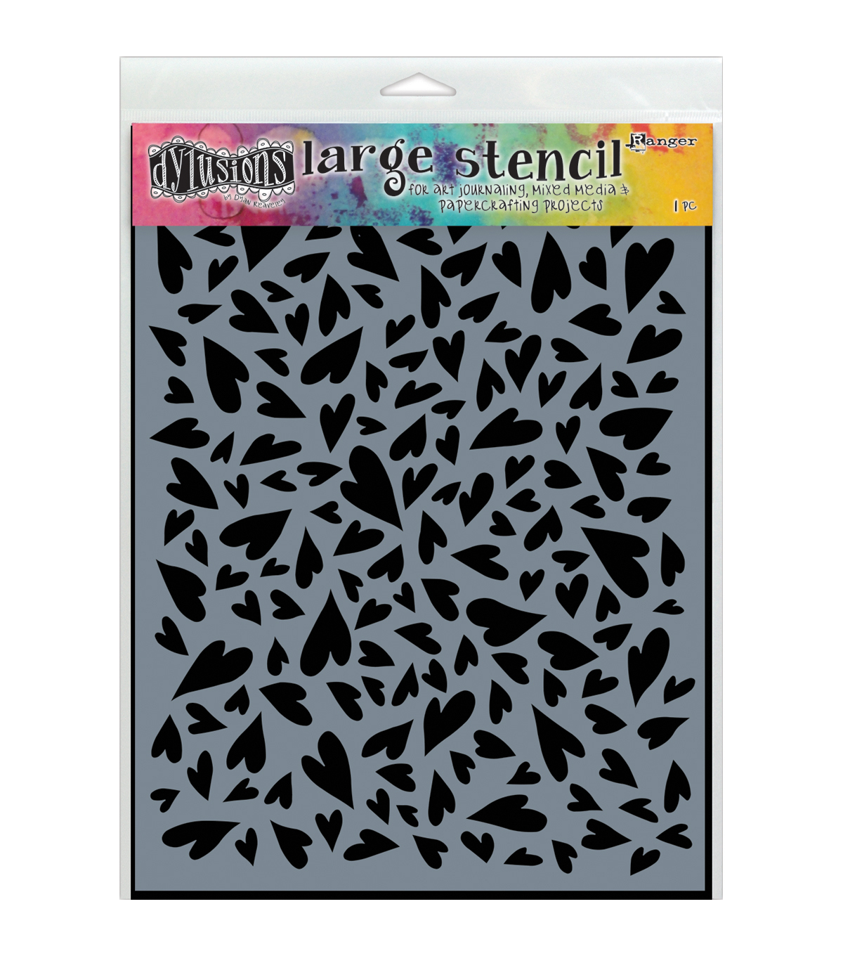 Ranger Dyan Reaveley Dylusions Stencils Hearts Large