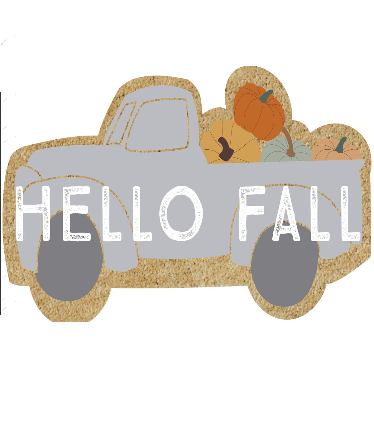 Simply Autumn 17.71\u0027\u0027x 29.52\u0027\u0027 Figural Truck Tufted Coir Mat-Hello Fall
