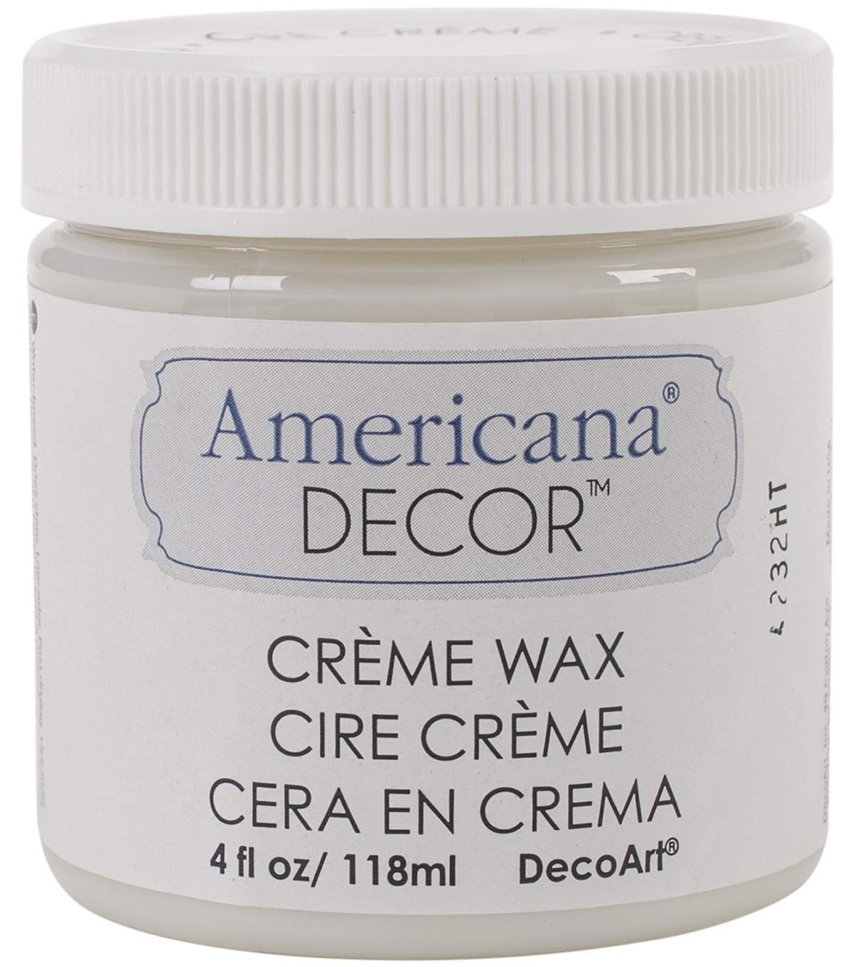 DecoArt Americana Decor Creme Wax 4oz , Clear