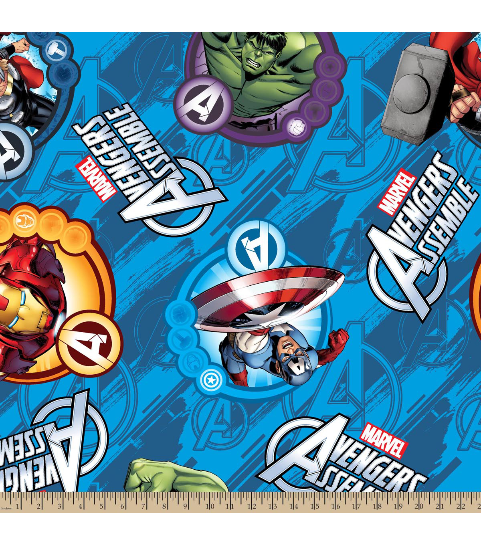 marvel comics avengers fleece farbic 59 avengers assemble joann