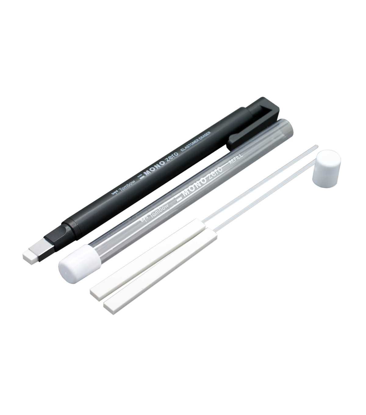 Mono Zero Eraser-Black Rectangle 2.5mm Diameter