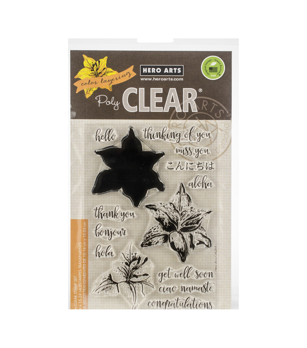 Hero Arts Color Layering Clear Stamps 4\u0022X6\u0022-Tiger Lily