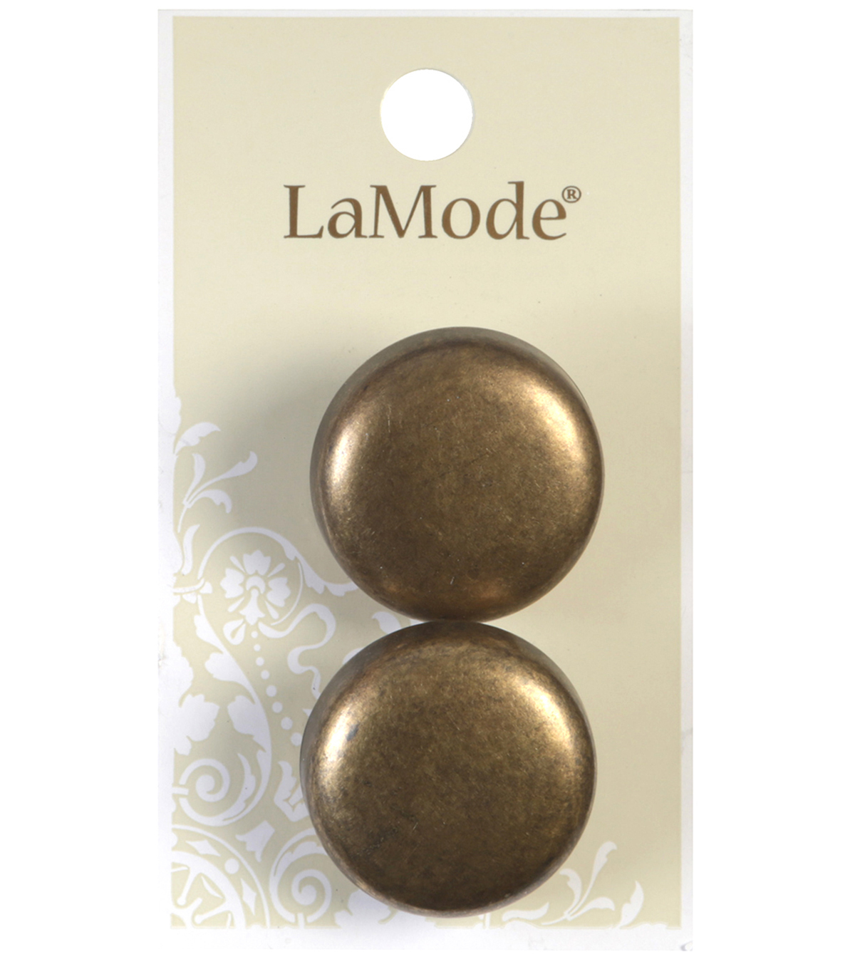 LaMode Antique Gold Metal Shank Buttons
