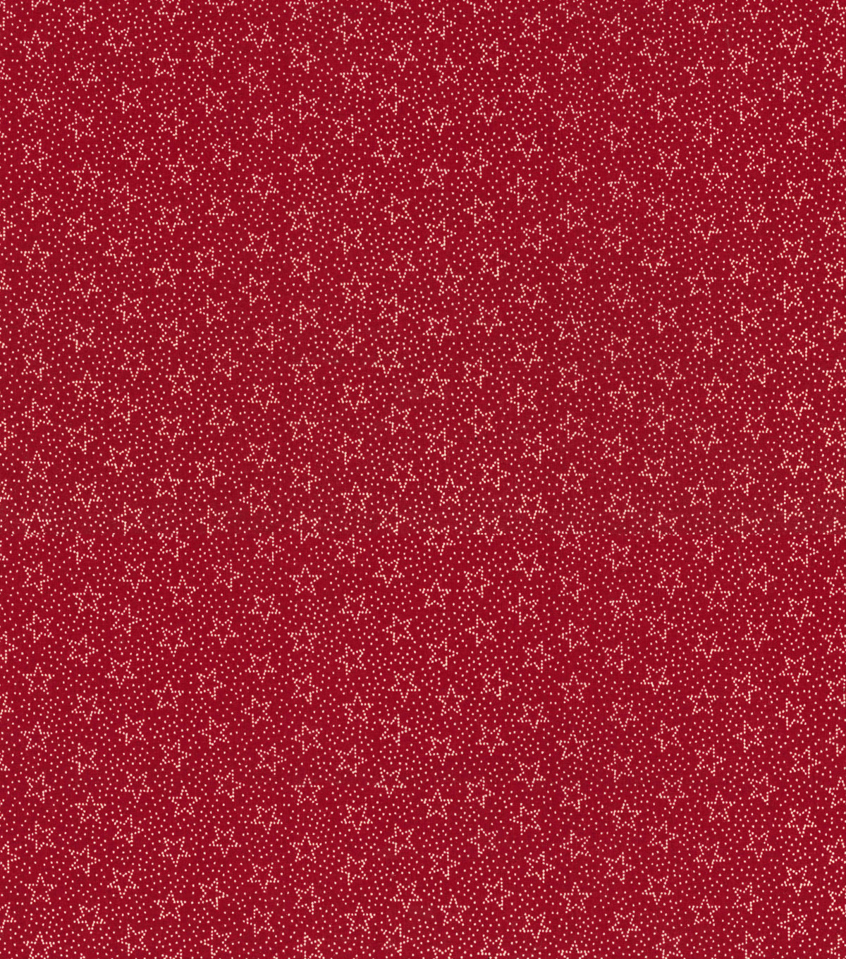 Patriotic Cotton Fabric -Dotted Stars on Red