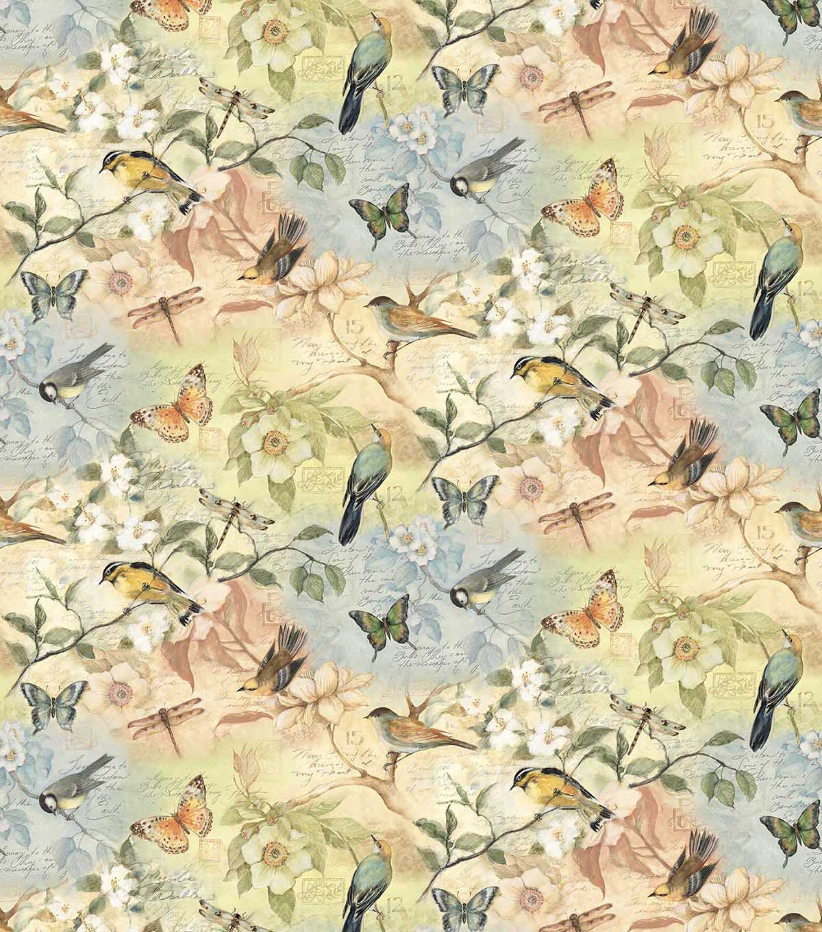 Relatively Susan Winget Fabric- Birds Of A Feather Scenic | JOANN HE77