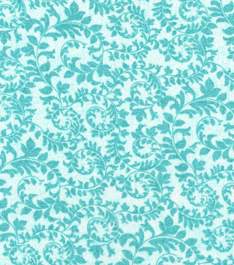 Keepsake Calico Cotton Fabric-Swirling Vines Pool Blue