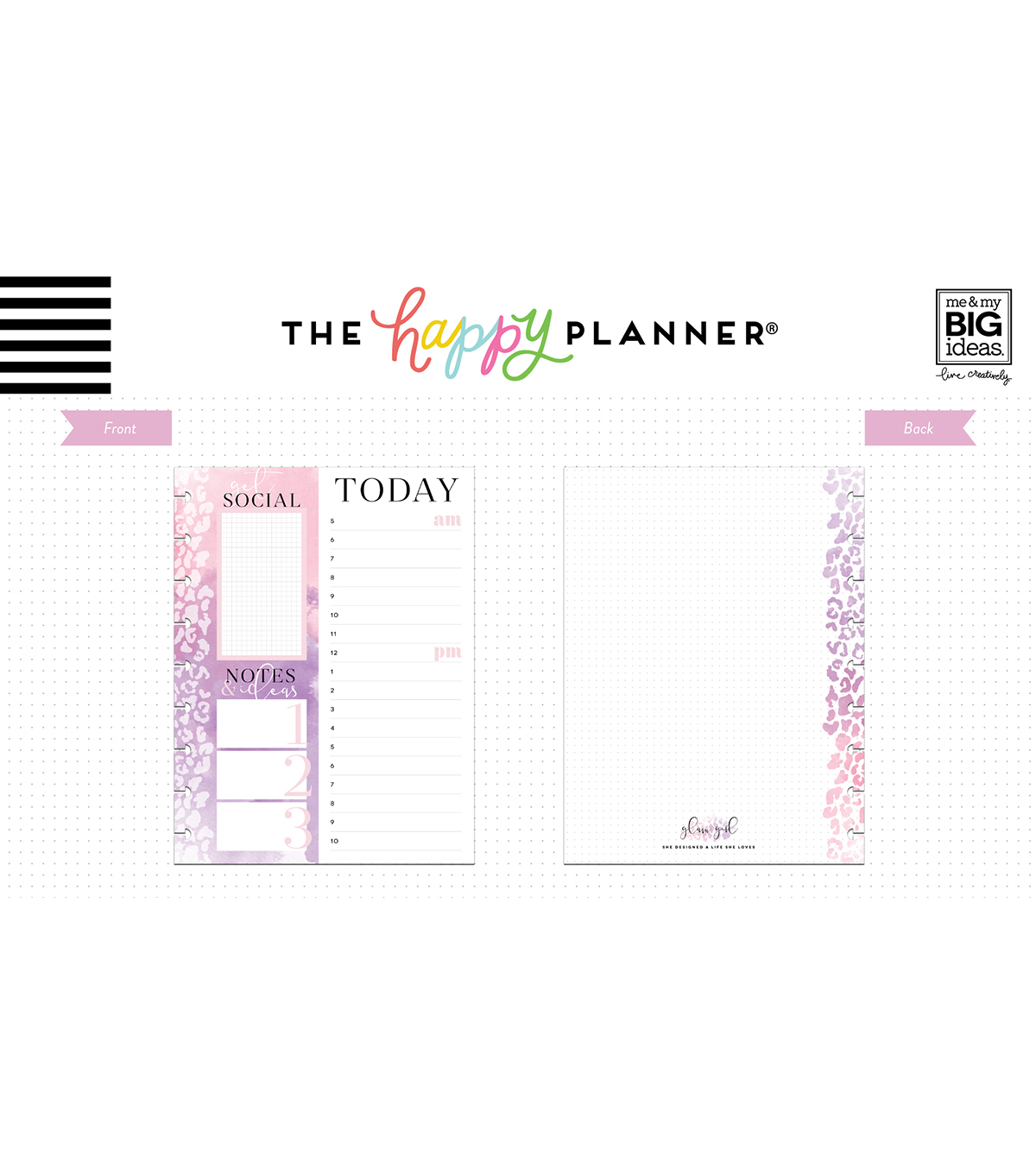The Happy Planner Girl Classic Paper-Glam Girl Social