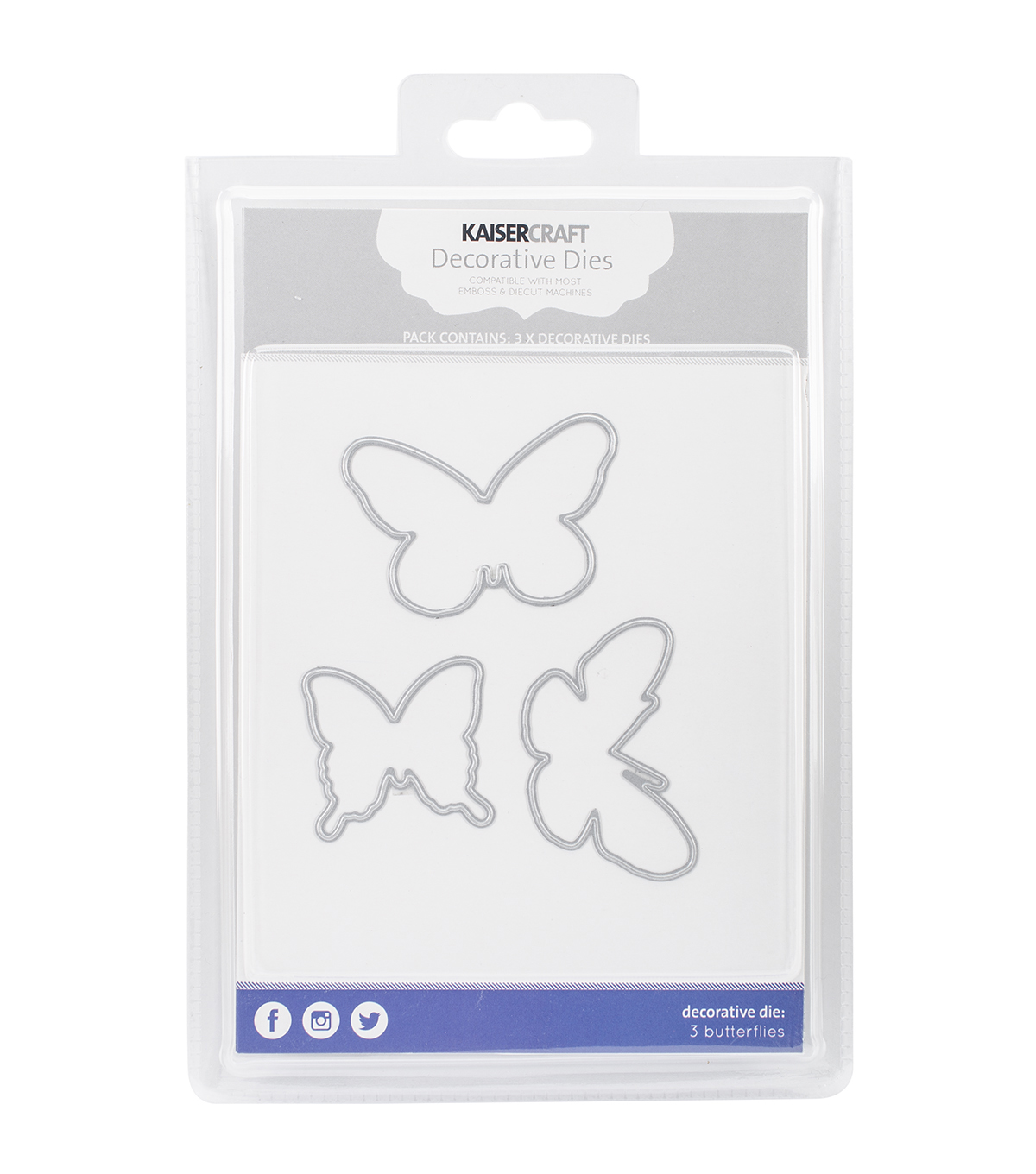 Kaisercraft Decorative Dies-3 Butterflies