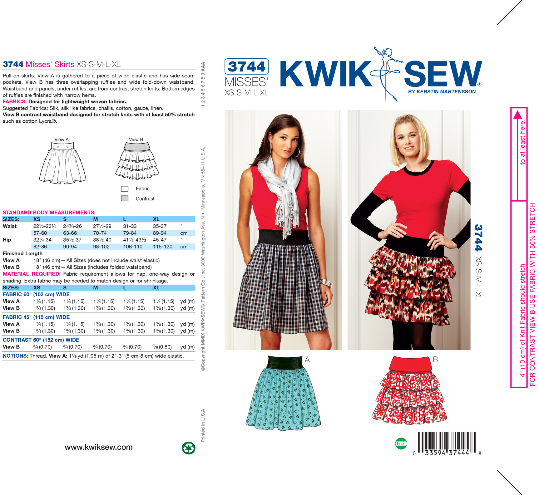Kwik Sew Misses Skirt-K3744