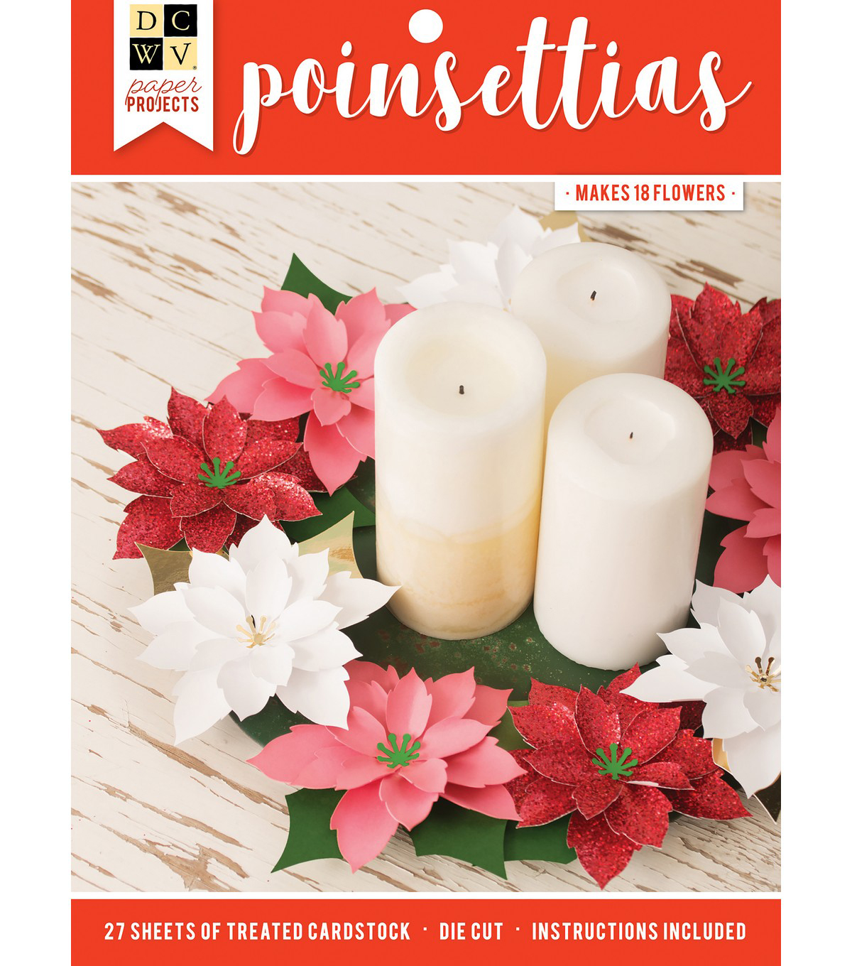 DCWV Holiday Layered Poinsettia Project Stack Kit