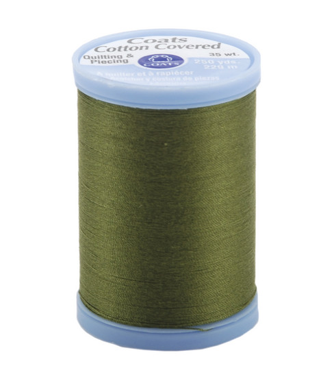Coats & Clark Cotton Covered Quilting & Piecing Thread 250 Yards , 6340 Olive