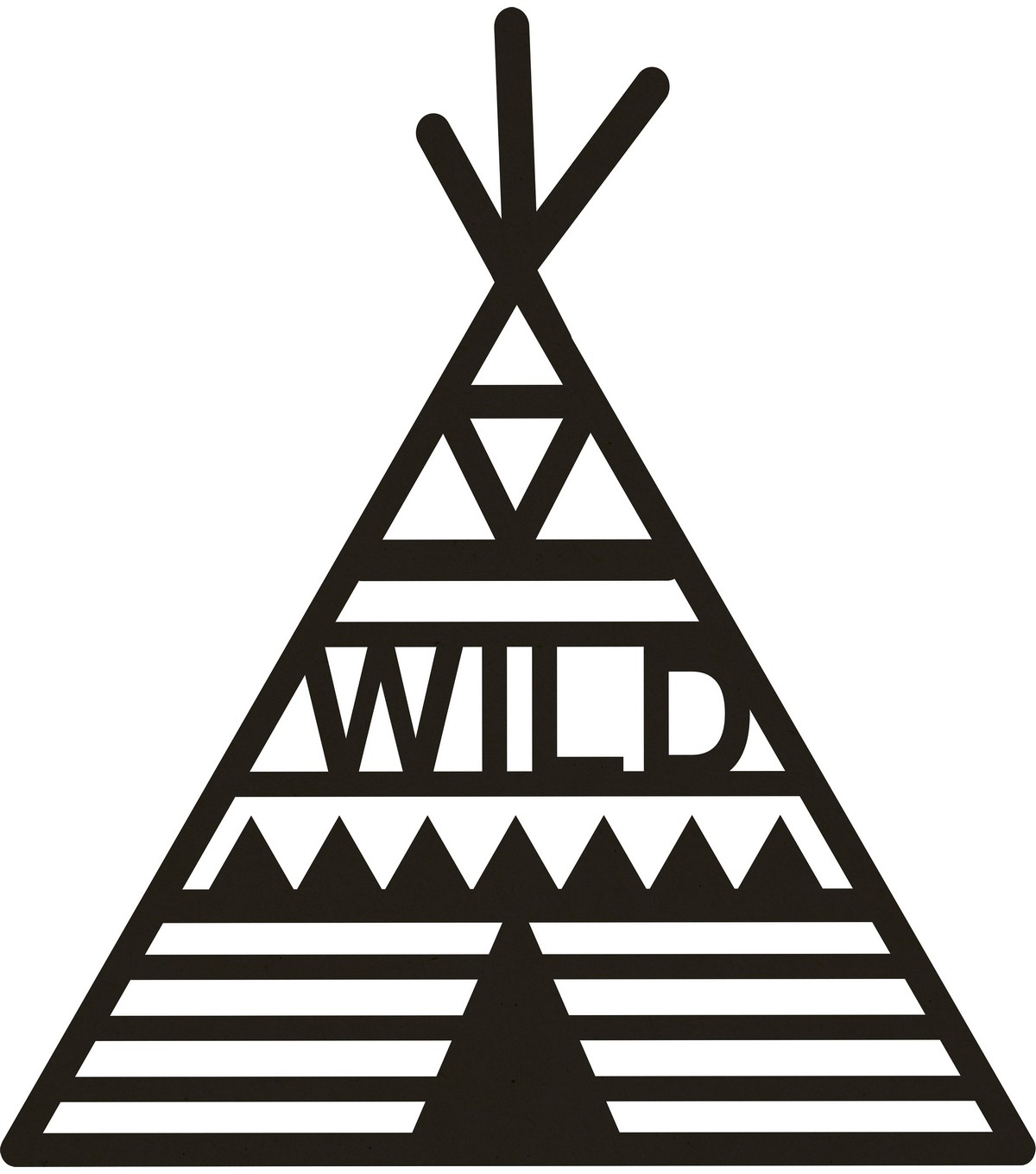 Beyond The Page MDF Teepee Wall Art-12.75\u0022X16.5\u0022
