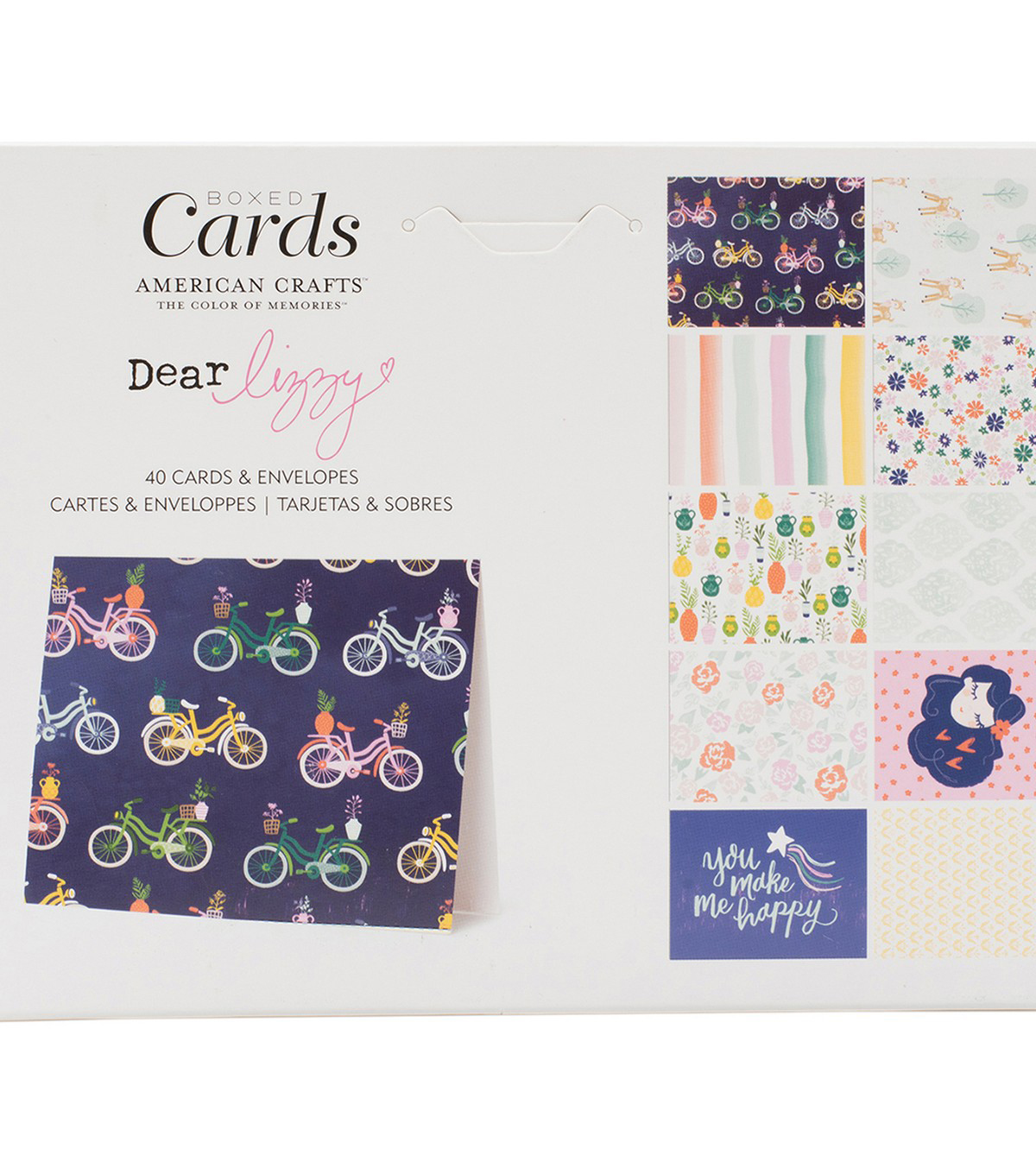 American Crafts Dear Lizzy Star Gazer 40 pk A2 Boxed Cards & Envelopes